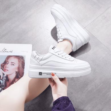 新款休闲厚底板鞋女时尚经典小白鞋时尚女鞋松糕鞋女YC-A03