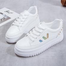 新款厚底休闲板鞋女时尚松糕小白鞋休闲女鞋YXF-C30