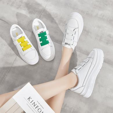 新款休閑厚底板鞋女時尚經典小白鞋時尚女鞋松糕鞋女YC-A06