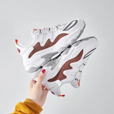 新款網布拼接透氣厚底老爹鞋運動休閑跑鞋戶外女鞋YG-F2