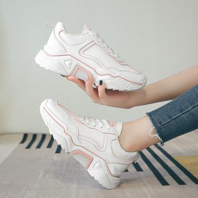 女鞋新款秋季小白鞋日常休闲鞋百搭老爹鞋ins超火的运动鞋休闲鞋 KS-M119