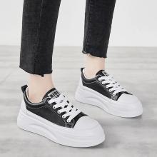 时尚休闲小白鞋2019秋冬新款女鞋滑板运动鞋低帮厚底增高鞋平底板鞋女MS-MC03