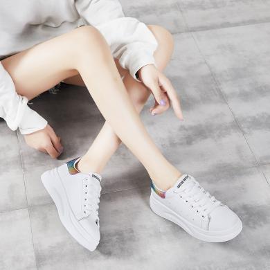 (35-37碼18號到貨)MIJI2019網紅同款女鞋智熏韓版ins超火學生板鞋小白鞋潮鞋YG-C19