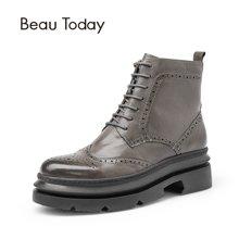 BT秋冬马丁靴女学生厚底新款短靴女英伦风女鞋机车鞋靴子女03405
