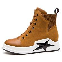莫蕾蔻蕾新款马丁靴女圆头平底短靴休闲磨砂女靴潮爆款 6207