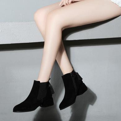 金絲兔襪子鞋女秋季新款韓版ulzzang百搭中筒彈力厚底高幫運動鞋女
