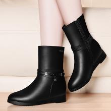 金丝兔冬季新款马丁靴英伦风瘦瘦靴平底女靴子百搭小短靴中筒靴