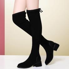 金絲兔女新款靴子女長筒過膝長靴