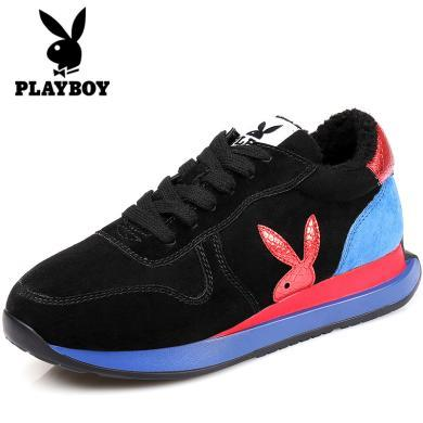 花花公子棉鞋内增高运动鞋女跑步休闲鞋韩版棉鞋保暖女棉鞋L100730291