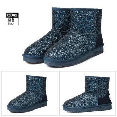 花花公子雪地靴女短靴短筒平底冬季新款厚底棉靴女加絨保暖鞋J151750569