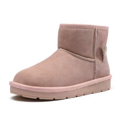 富貴鳥雪地靴女靴保暖冬鞋平底靴女 G89P926FR