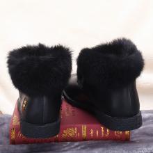100KM猩猩猴 低帮短靴子女新款韩版平底雪地靴毛毛边百搭棉鞋潮