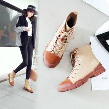 2018秋季新款ins机车马丁靴女英伦风沙漠短靴子时尚高帮鞋女系带
