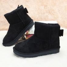 100KM猩猩猴 雪地靴女加厚保暖平底親子鞋棉鞋百搭蝴蝶結短靴子