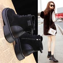 潮牌秋冬新款靴子加绒短靴女鞋高帮鞋短筒马丁靴LP-Q3-11A