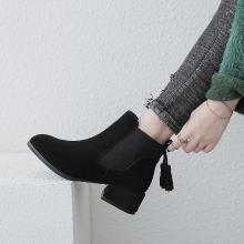 【简约时尚】阿么2018上新短靴ins火爆休闲皮鞋低跟女鞋
