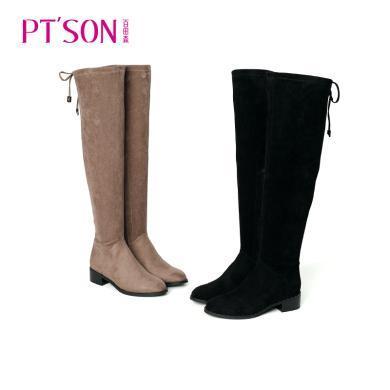 百田森 修腿保暖舒適彈力過膝高筒女靴PYQ18820