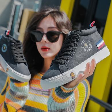 100KM猩猩猴 棉鞋女冬季保暖加絨韓版新款短靴學生休閑女鞋百搭雪地靴