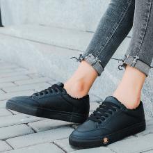 100KM猩猩猴 加绒加厚小白鞋学生韩版超纤加厚保暖百搭休闲棉靴