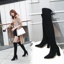 長靴女過膝鞋子女新款長筒高筒靴子女馬靴女鞋秋冬襪靴 MN9903