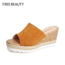 自由姿色 新款穆勒鞋时尚百搭潮外穿韩版半拖鞋FYQ8B230