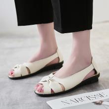 【3色可选】夏季鱼嘴平底一脚蹬镂空单鞋妈妈鞋中?#22799;?#20937;鞋女鞋  DL 9588