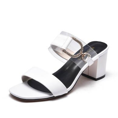 富貴鳥涼鞋女 韓版潮時尚高跟拖鞋女 N99P237C