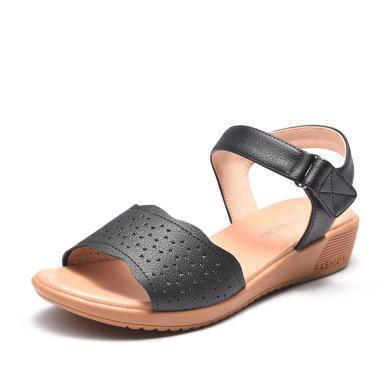 富貴鳥媽媽鞋 奶奶鞋女士中老年涼鞋 N99E030C