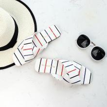 搭歌2019新款夏季沙灘拖鞋女夏時尚外穿平底條紋女鞋FFH101--8