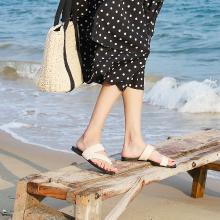 搭歌2019新款夏季沙灘鞋拖鞋女時尚套趾平底涼拖FFH101-15