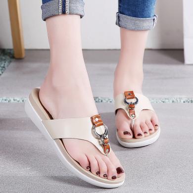 【3色可選】女鞋平底涼拖鞋女鞋外穿百搭時尚拖鞋舒適簡約人字拖 MN1526