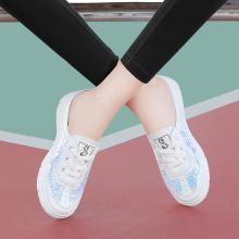 古奇天倫 休閑涼拖圓頭平底拖鞋夏季新款系帶炫彩鞋子女 GQ/9477