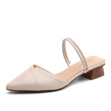 奧古獅登包頭涼鞋女2019新款百搭平底女士夏季仙女風ins潮鞋涼拖外穿單鞋9256