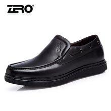 零度尚品 商务休闲皮鞋 手工男士皮鞋 休闲鞋 休闲男鞋 男士休闲皮鞋 时尚休闲鞋