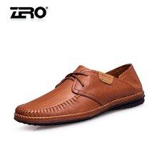零度商品男鞋日常休闲鞋头层牛皮超软男士休闲皮鞋高端手工驾车鞋