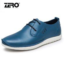 零度尚品休闲皮鞋 男士系带日常休闲鞋时尚男鞋低帮鞋