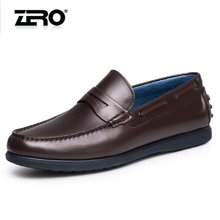 零度尚品智能健步鞋 2016新品休闲皮鞋 男士商务皮鞋套脚豆豆鞋子F6102