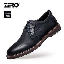 Zero零度户外休闲皮鞋 男士秋季新品真皮户外休闲鞋系带牛皮男鞋