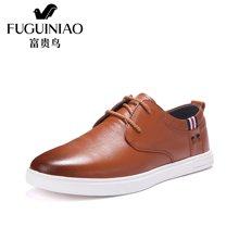 富贵鸟(FUGUINIAO)男鞋潮 男士休闲鞋平底舒适板鞋子 A650002