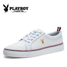 花花公子男鞋秋季板鞋男韩版帆布鞋男士鞋子潮休闲鞋大码鞋子CX39088
