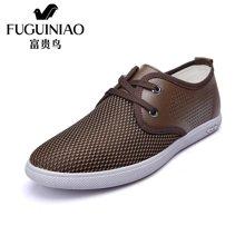 富贵鸟(FUGUINIAO)富贵鸟时尚男士圆头系带日常生活轻便网面鞋男鞋休闲板鞋 E697625