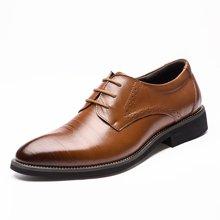 俊斯特 新款单鞋正装男鞋商务皮鞋牛皮男士皮鞋子