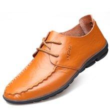 俊斯特 新款男士时尚牛皮驾车鞋豆豆鞋休闲鞋
