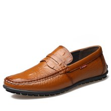 俊斯特 新款豆豆鞋男士牛皮休闲鞋驾车鞋懒人鞋子
