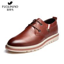 富贵鸟(FUGUINIAO)富贵鸟男鞋休闲鞋尖头系带低帮鞋男士皮鞋  A689723