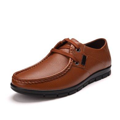 富貴鳥(FUGUINIAO) 韓版時尚潮流休閑鞋舒適男皮鞋 A603101