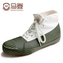 马登帆布鞋男韩版百搭硫化胶鞋防水猎鸭雨靴个性短靴美式复古男鞋子 1703042