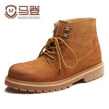 马登马丁靴男潮高帮工装靴短靴沙漠靴英伦男靴子韩版男皮鞋子 1703026