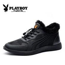 花花公子男鞋冬季加绒保暖棉鞋韩版运动休闲鞋男士跑步鞋百搭鞋子CX39293M