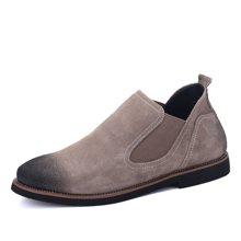 西瑞秋冬短靴复古做旧反绒皮男靴休闲鞋DKD87